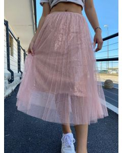 Gonna in tulle con paillettes art_4483
