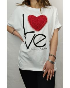 T-shirt Love with all your heart