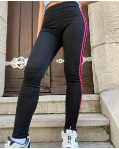 Leggings lunghi con riga colorata art_D-1155