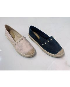 Espadrillas in ecopelle con perle