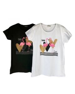 T-shirt flamingo in love art_7233