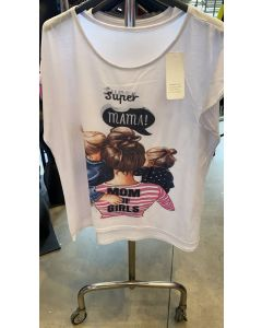 T-shirt grande Super Mama art_4078