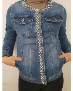 Giacca jeans con strass art_206