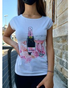 T-shirt con stampa Moet