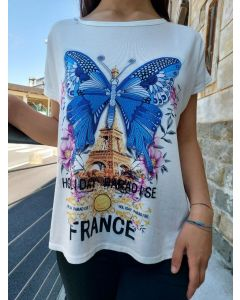 T-shirt grande con stampa France